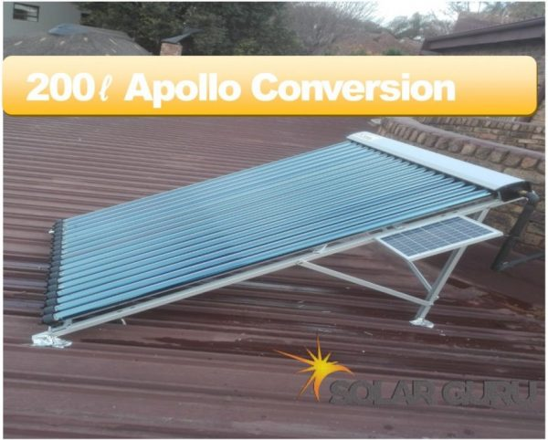 Solar Guru-200ℓ Apollo Conversion – Convert Existing Geyser to Solar 2
