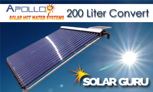 Solar Guru-200ℓ Apollo Conversion – Convert Existing Geyser to Solar