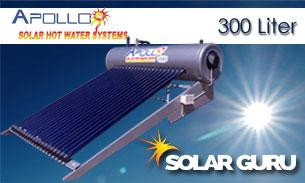 Solar Guru-300ℓ High Pressure Apollo Solar Geyser