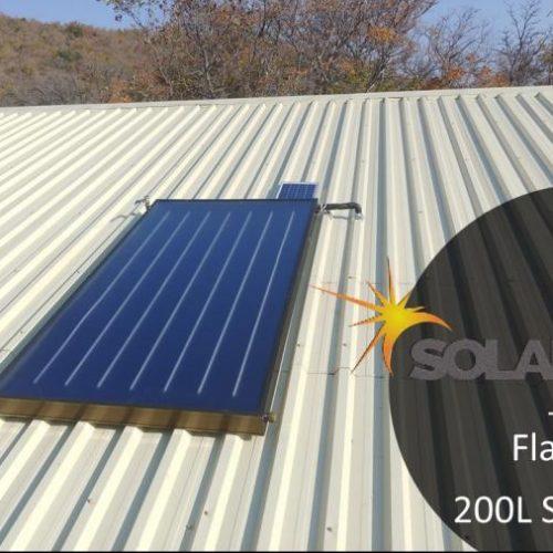 Solar Guru-Solar Geysers-200l Split flat plate-200L Guru Split Solar Geyser