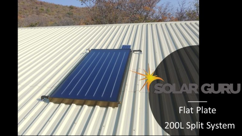 Solar Guru 200l Split flat plate, solar geyser