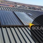 Grey sink roof solar geyser flat panel