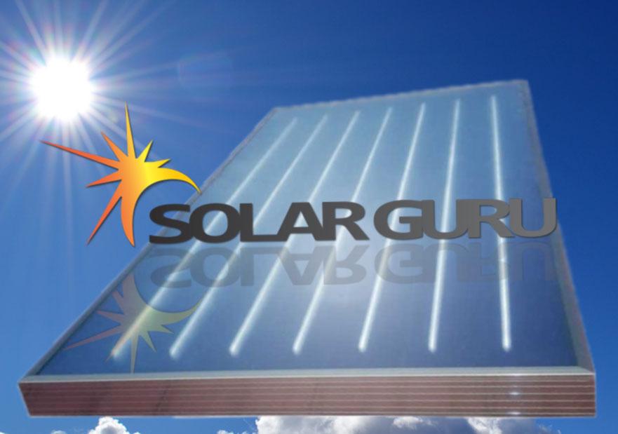 Retrofit flat panel solar geyser by Solar Guru