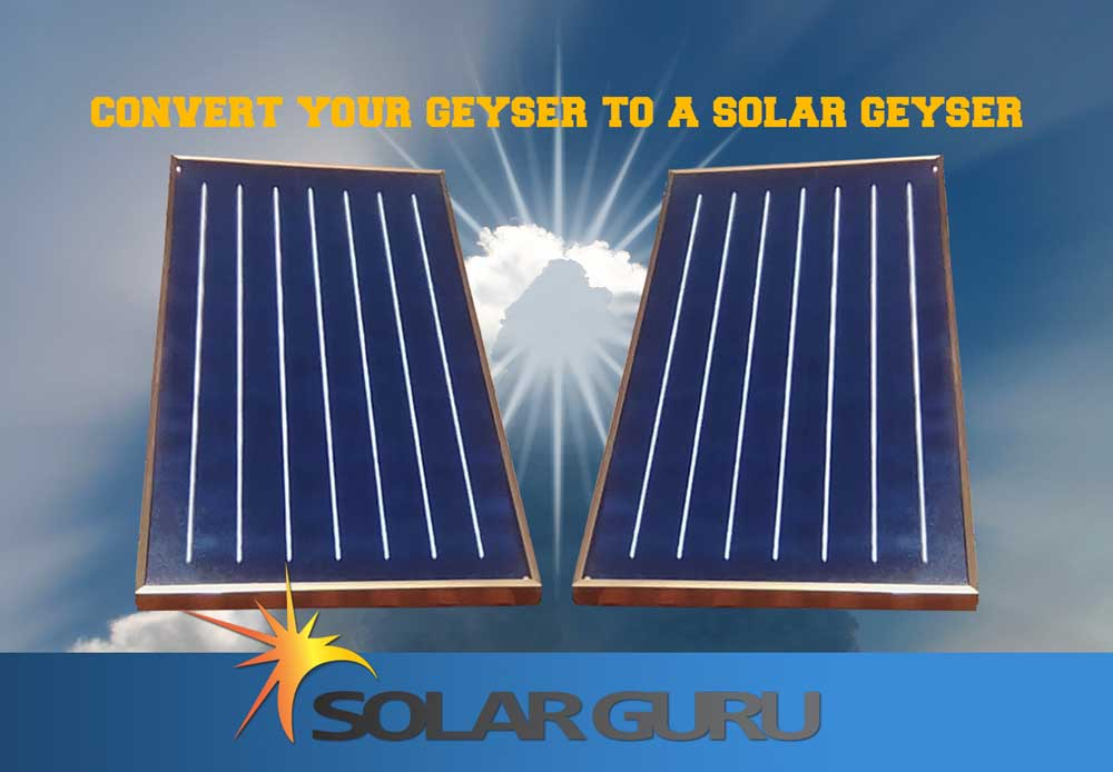 Flat Panel Conversion Solar Geysers by Solar Guru