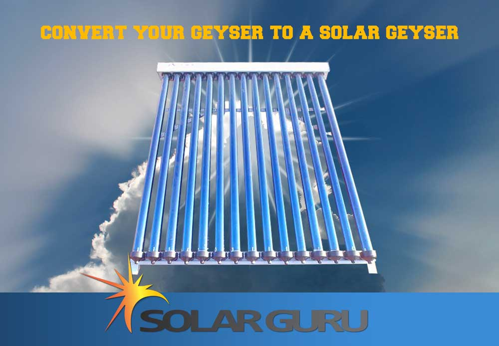 150 liter Tube Conversion Solar Geysers Promotions