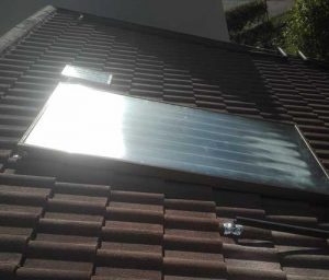 Solar geyser, Solar flat-panel collector, Johannesburg